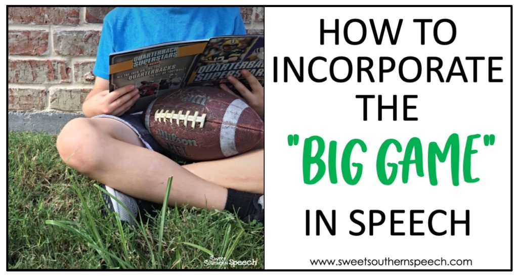 Football activities in speech therapy