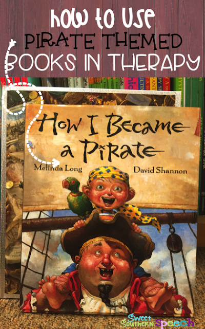 My favorite pirate themed books for speech therapy