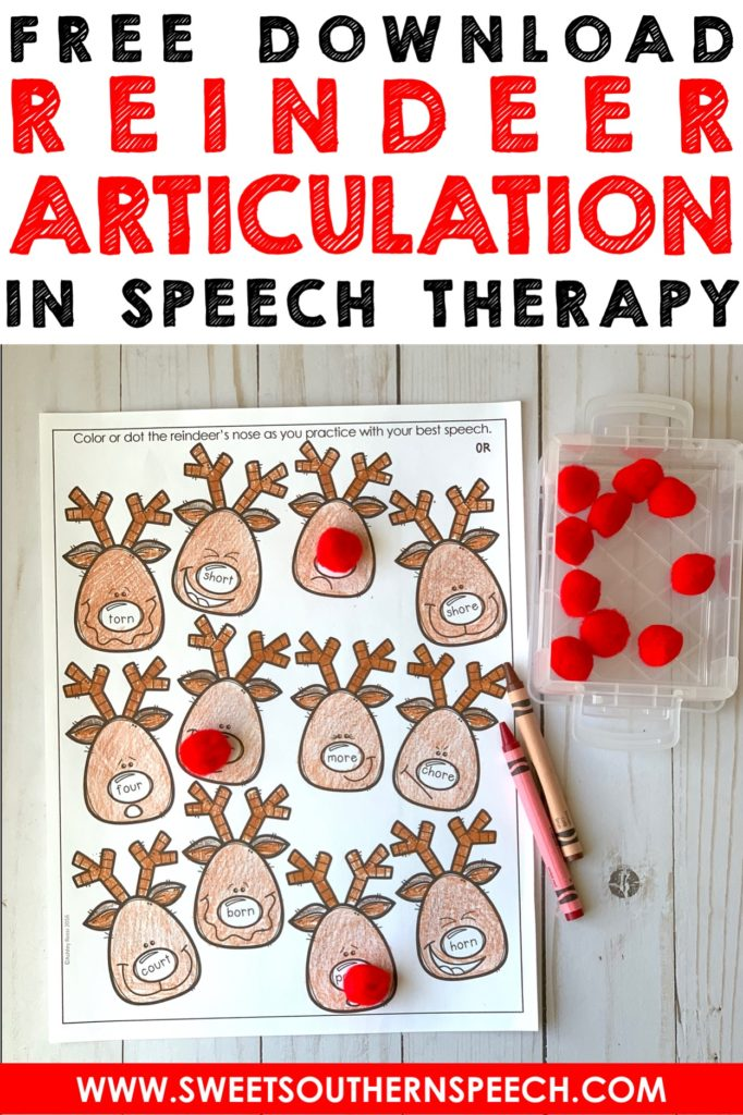 FREE 14 page download! Fun Christmas articulation activity for working on /R/ sounds.