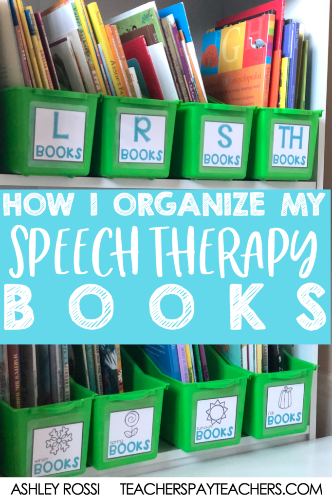 How I organize my children's picture books in speech therapy