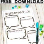 Free activities for the last day of school in speech therapy