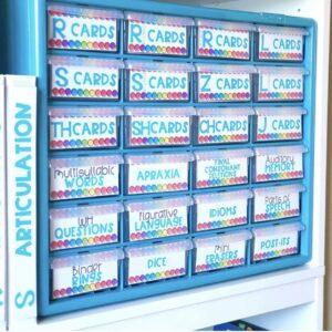 Articulation Card Storage for toolbox organization