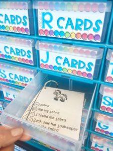 Articulation Cards storage