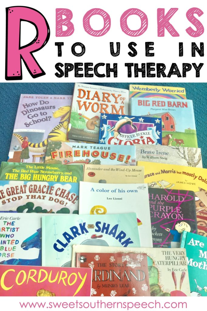 R books for articulation therapy