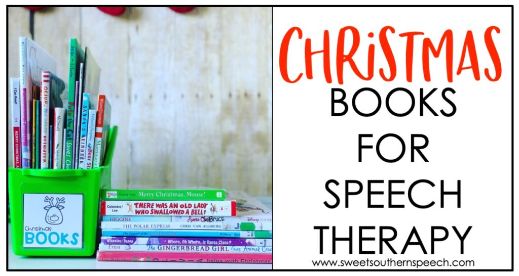 Christmas books for speech therapy