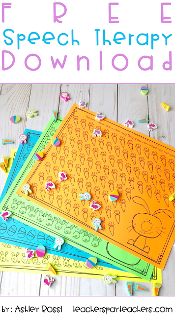 Using Spring mini erasers in speech therapy - free download