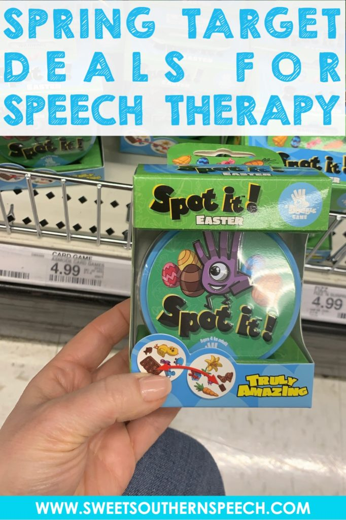 Using the Easter Spot It from the Easter section of Target in Speech Therapy