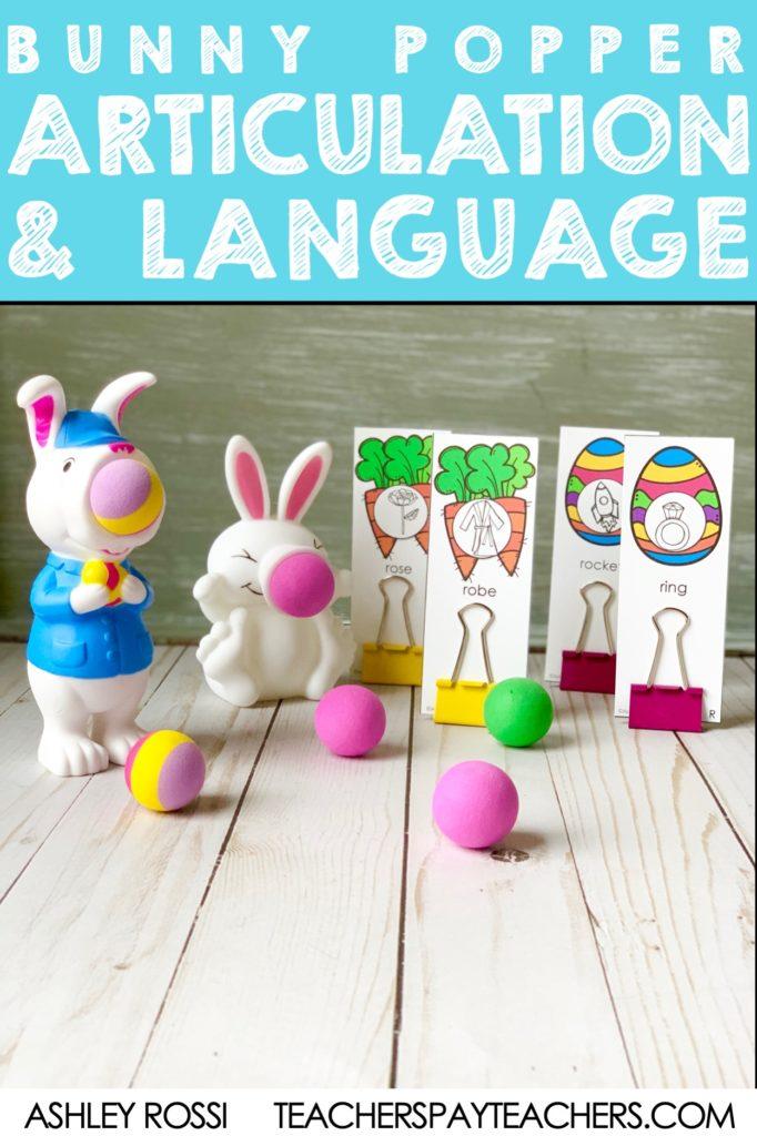 Fun ball popper companions for speech therapy