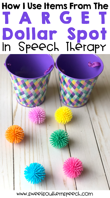 Spring Target Dollar Spot ideas for speech therapy