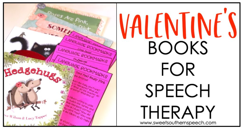 Valentine's Day books for Speech Therapy