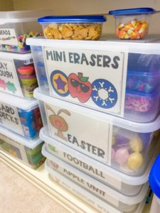 How to store all the mini erasers you use in speech therapy!