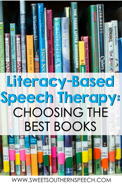 Selecting the best children's picture books to use in a literacy-based speech therapy session.