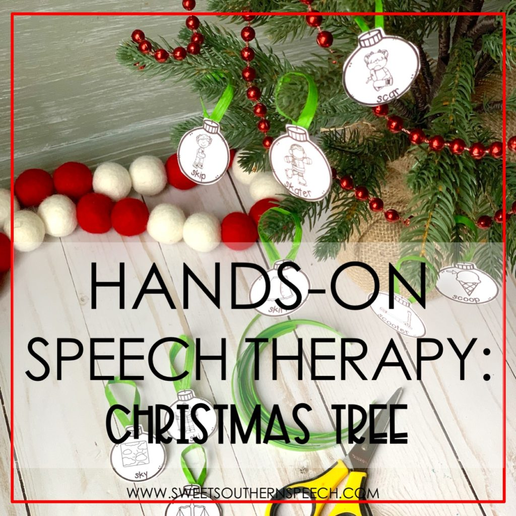 hands on speech therapy christmas tree activity sweet southern speech