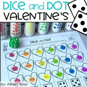 February Speech Therapy Lesson- Dice and Dot Valentine's Day Activity