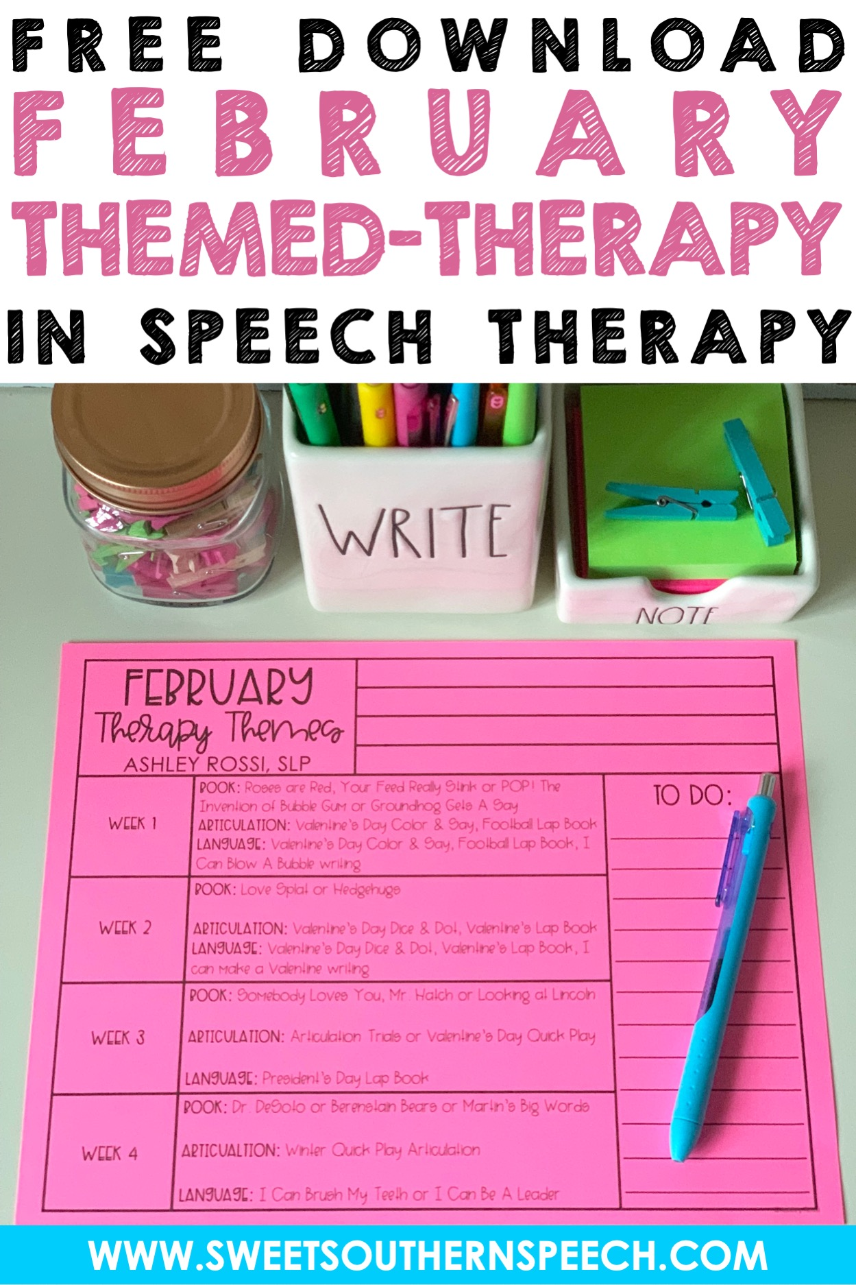 february themes in speech therapy