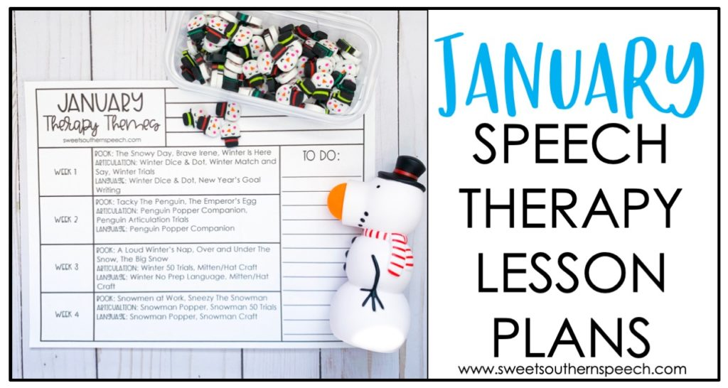 Speech Therapy lesson plans for January