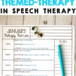 Download this free planning calendar for January themes to incorporate into your speech therapy sessions!