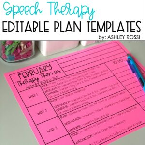 SLP Planner- February Speech Therapy Lesson Plans