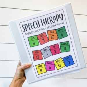 Speech Therapy Binder: Themed Lesson Plans