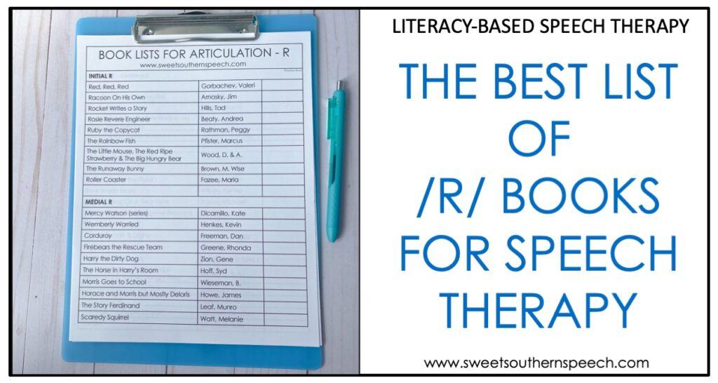 Articulation R book list