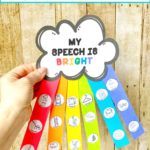 Spring rainbow craft for speech therapy