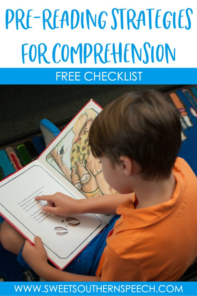 Pre-Reading Strategies for Comprehension - Sweet Southern Speech