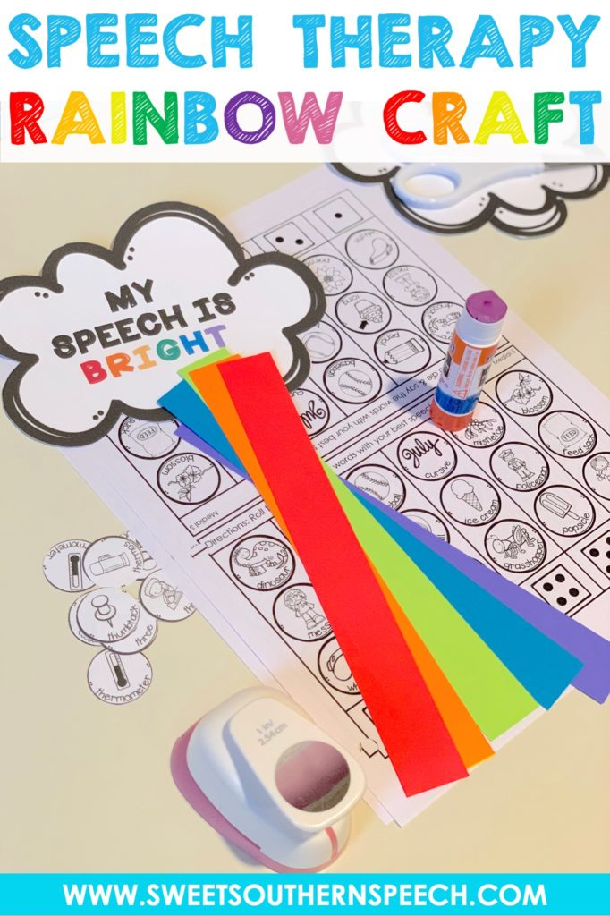 Spring Rainbow craft for Speech & Language - make a rainbow!