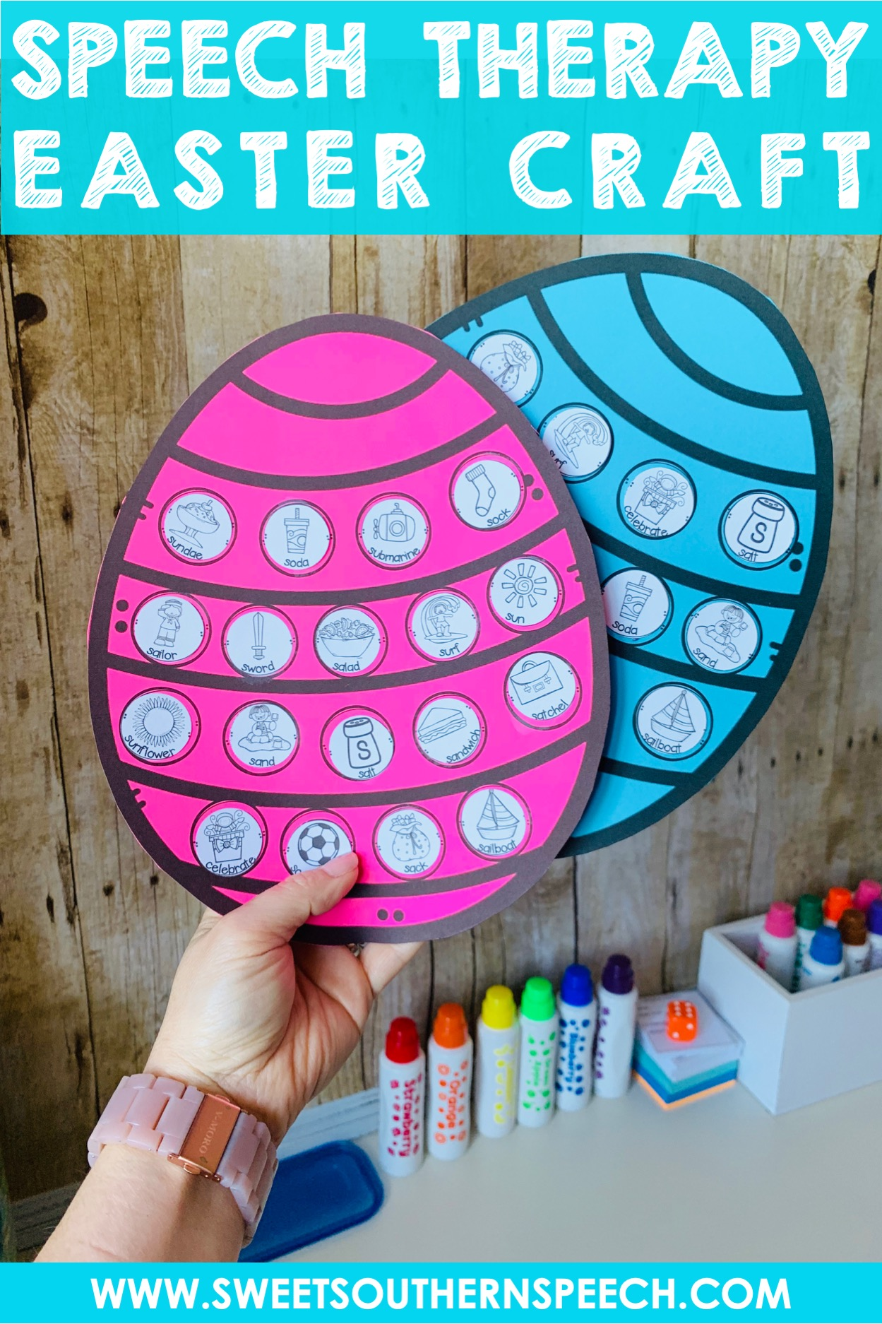 89b1ca3a3 Easter Craft Freebie For Speech Therapy - Sweet Southern Speech