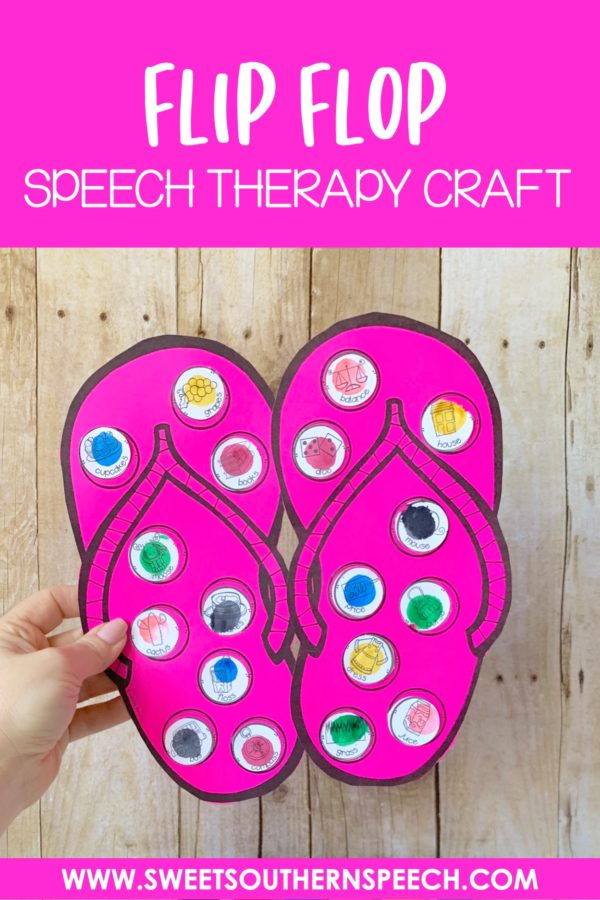 Download this FREE flip flop summer themed, easy craft!