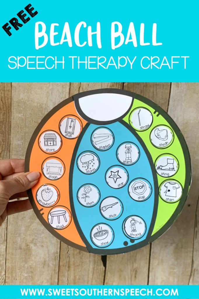 Download this FREE summer beach ball craft to use with your speech therapy students!