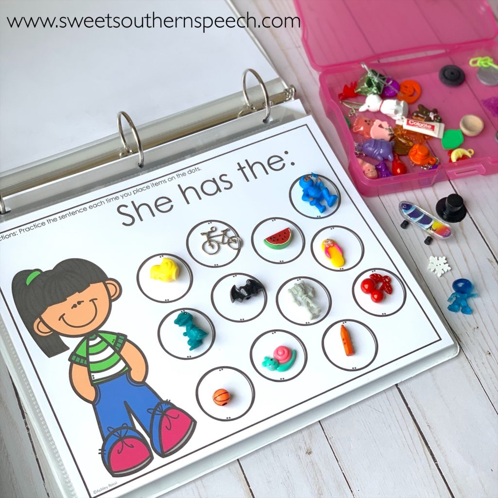 Use these sorting mats for evidence-based teaching of pronouns in speech therapy