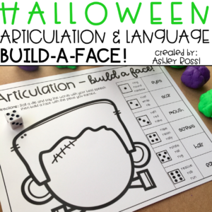 Halloween activity for speech therapy