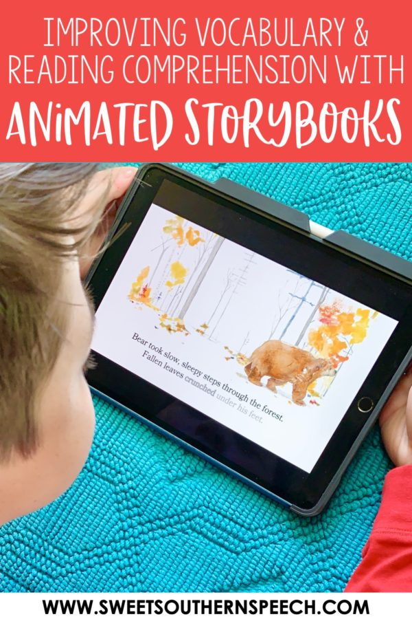 Using animated sotrybooks to improve vocabulary and comprehension