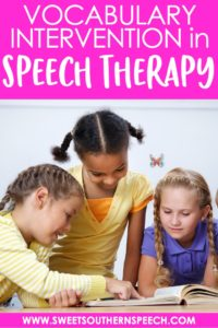 How to teach vocabulary in speech therapy and take data during your activities
