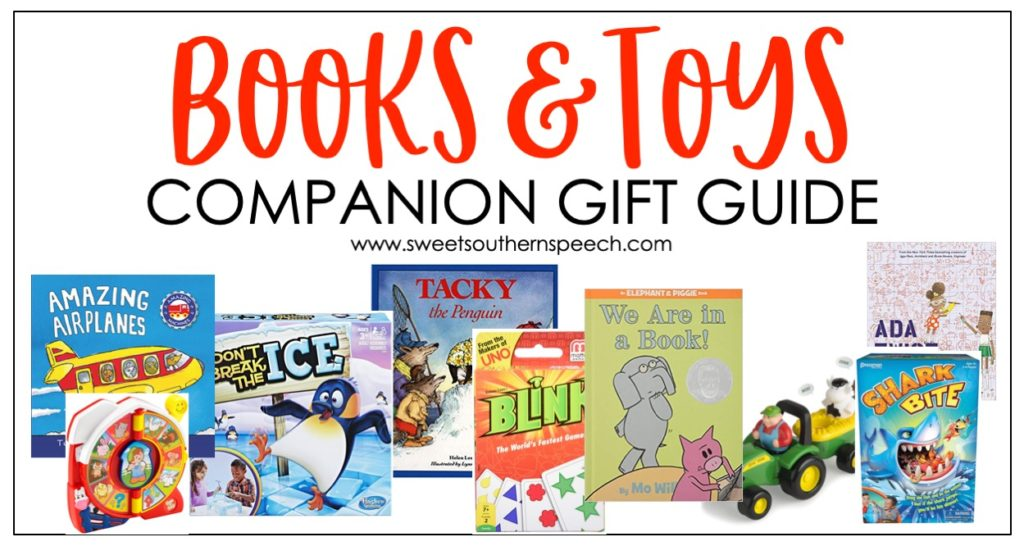books and toys for speech and language