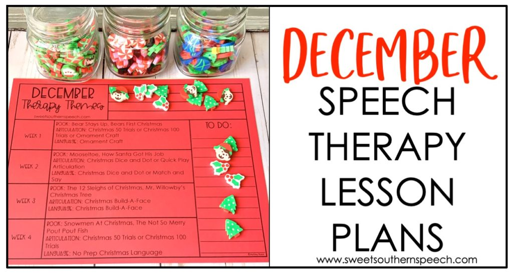 December Speech Therapy Lesson Plans