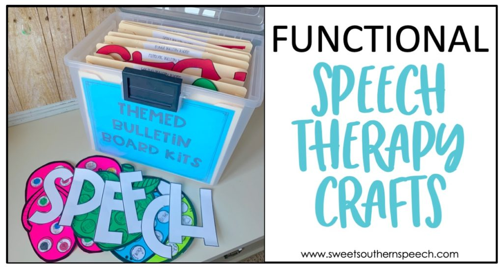 Easy Speech Therapy Crafts