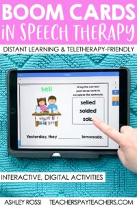 Tips for using Boom Cards in Speech Therapy