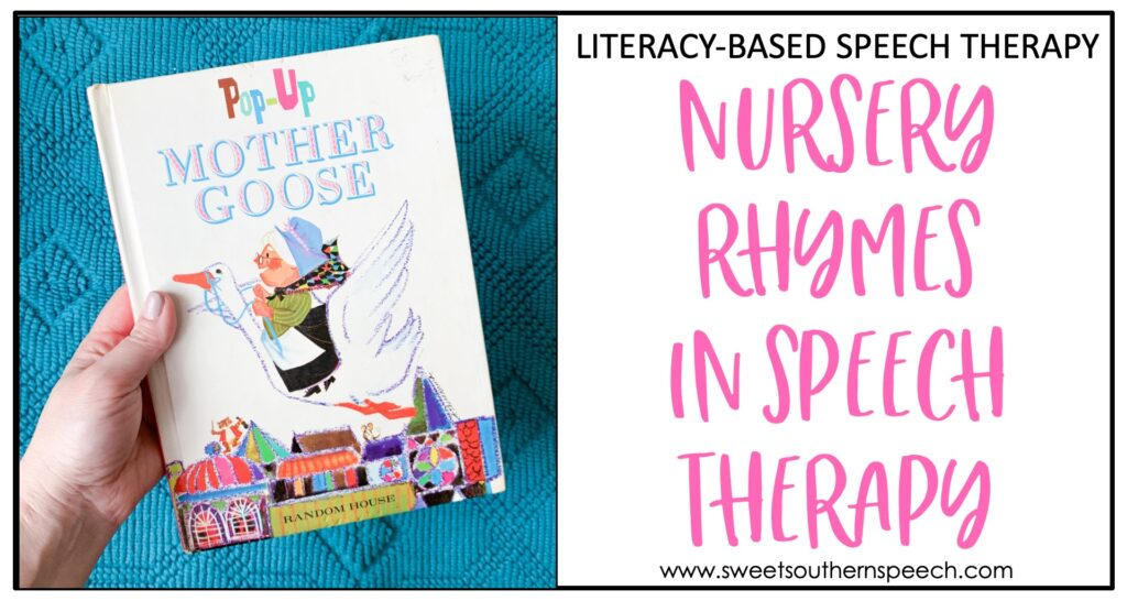 Using nursery rhymes to build phonological awareness in speech therapy