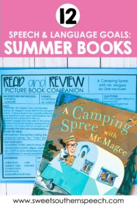 Summer themed book companions for speech therapy