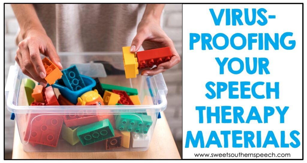 How to protect your Speech Therapy materials from the COVID virus