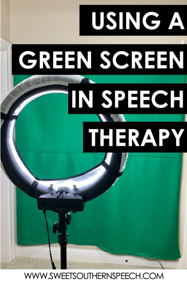 Using a green screen for distance learning teletherapy in Speech Therapy