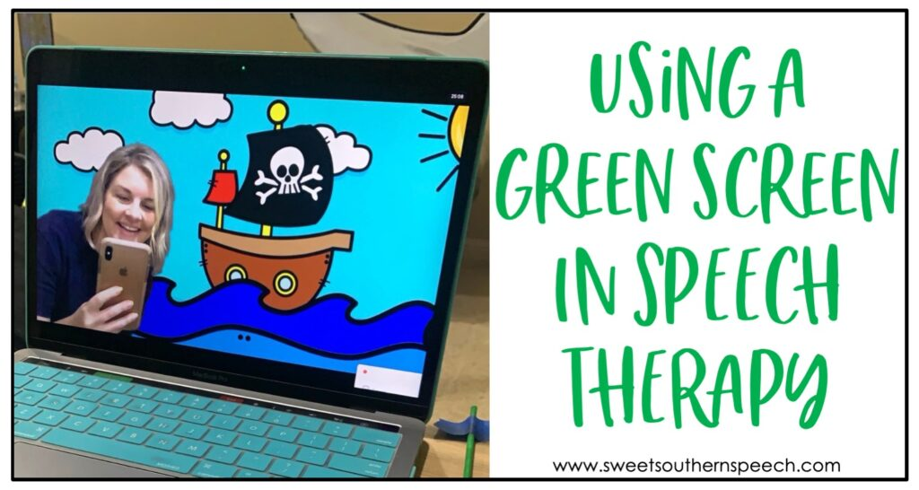 Using a green screen in speech teletherapy