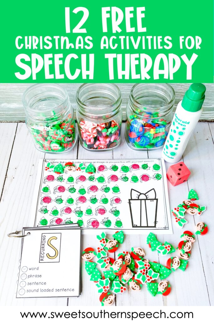 12 FREE activities for Christmas in Speech Therapy
