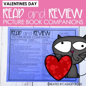 3 Valentine's Day book companions to use in speech therapy