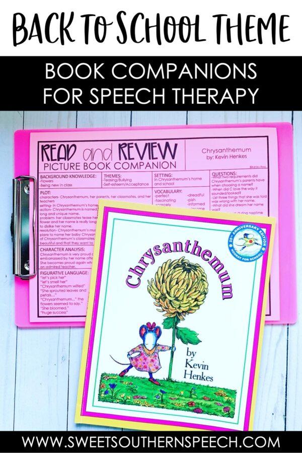SPEECH THERAPY BOOK COMPANIONS