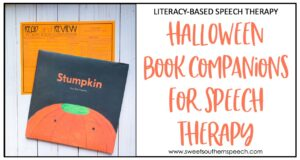 Halloween Speech Therapy Book Companions
