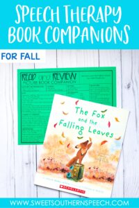 fall books for speech therapy