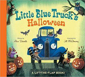 using Little Blue Truck's Halloween in speech therapy