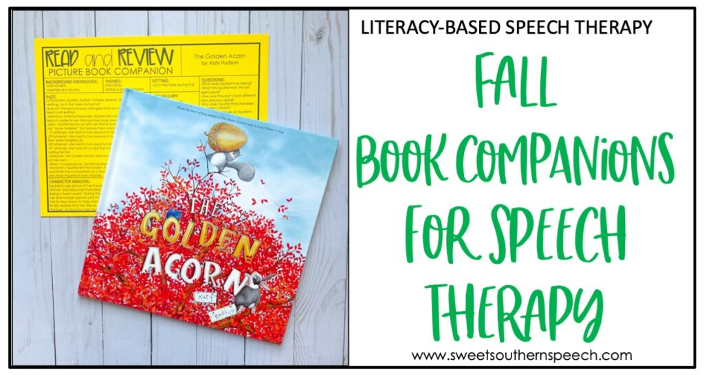 fall speech therapy book companions